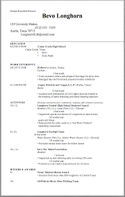 Sample Expanded Resume Sample Expanded Resume Bevo Longhorn 123 University  Station ...