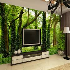 Small Picture Aliexpresscom Buy Photo Wallpaper Modern Simple Green Forest