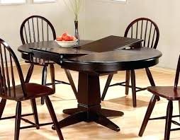60 round espresso dining table round espresso dining table kitchen table with leaf insert erfly leaf