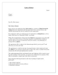 Letter Of Intent Application Job Career Resume Template Sample