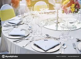 Reception Table Set Up Table Setup Close Up Closeup Shot Wedding Reception Dinner
