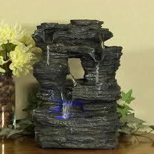 Amazon.com: Sunnydaze Five Stream Rock Cavern Tabletop Fountain with  Multi-Colored LED Lights: Sunnydaze Decor: Home & Kitchen