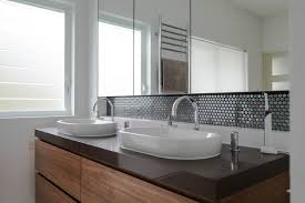 Bathroom  Modish Grey Bathroom Tiles Along Grey Bathroom Ideas - Tile backsplash in bathroom