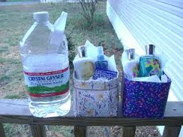 etsy recyclers guild upcycle gallon water bottles into pretty gift baskets