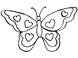 Free Coloring Pages Butterfly Page Of Simple Butterflies Printable