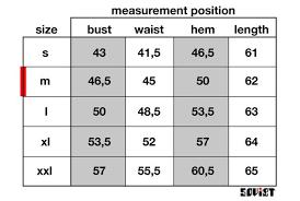 Iris Size Chart Size Chart Iris Soviet