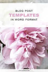 5 perfect blog post templates word format blog post templates in word format