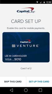 To check for upgrade offers online, visit the capital one upgrade offer page (log. You Can Now Make Purchases With Capital One S Mobile Wallet Venturebeat