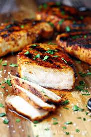 juicy grilled pork chops let s dish