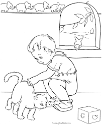 Small Picture Cute Kitten Coloring Pages