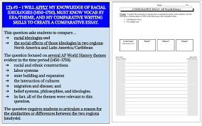 Wed 5 4 Do Now T Chart On Racial Ideologies In North
