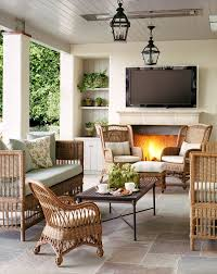 Outdoor Living Room Set Adorable Outdoor Living Room Decorative Cushion Stone Fireplace