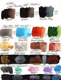 Fw Inks Colour Chart Acrylic Inks Daler Rowney And Liquitex Craft Ideas