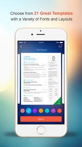 Resume App Enchanting Resume CV Builder Designer For Your Job Search On The App Store