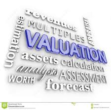 Valuation 3d Word Collage Multiples Revenues Assets Company Business