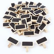 Blackboard Chart Price Us 3 49 24 Off 50 Mini Blackboard Wood Message Slate Rectangle Clip Clip Panel Card Memos Label Brand Price Place Number Table In Flip Chart From