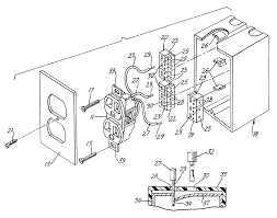 Drawing of electricity in a wall outlet