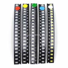 <b>100PCS</b>/<b>LOT 1206 SMD</b> White Red Blue Green Yellow 20pcs each ...