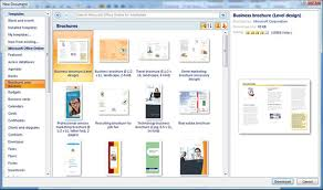 Templates In Ms Word 2010 Brochure Templates For Microsoft Word 2013