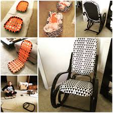 Vintage Thonet bentwood rocking chair makeover! Perfect for the ...