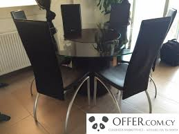 leather dining room chairs on bo concept round dining table with six leather chairs en