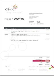 Websign Invoice Template Pdf Free Word Sample Website Surprising Web