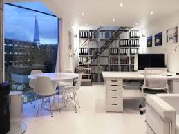 Small office architecture Office Interior The New Allwhite Office Space Frames The Iconic Shard Flush Skirting Creates Clean Dwell Incredible Home Offices Of Designers And Architects Dwell