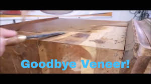 how to remove veneer from furniture diy furniture repair techniques