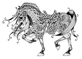Small Picture Majestic horse Animals Coloring pages for adults JustColor