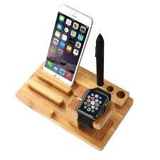 ym ud06 1 3 in1 bamboo wood charging dock docking station holder for iphone