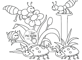Free Printable Coloring Pages Spring Sheets For Kindergarten Page