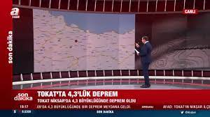 Son dakika: AFAD duyurdu! Niksar'da 4,3 büyüklüğünde deprem - Son Dakika  Haberler