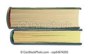 stack of old books vector realistic pages book side view reading symbol with cover isolated