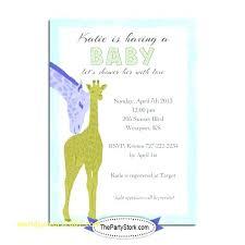 Giraffe Printable Template Customized Baby Shower Invitations Free Beautiful Dress Invitation