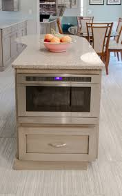 Extra Kitchen Storage Kitchen Island Built In Microwave Extra Storage And Prep Space