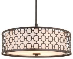 kira home harper 18 modern 3 light chandelier dual lattice metal glass shade transitional pendant lighting by modum decor