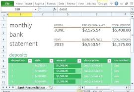 Bank Reconciliation Template Monthly Bank Reconciliation Template For Excel Spreadsheet