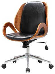 modern office chairs. cleo office chair, black/walnut midcentury-office-chairs modern chairs