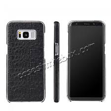 cool galaxy s8 leather cases whole genuine leather crocodile grain back cover case for samsung