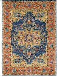teal and orange area rugs hap runner 2 7 x 7 3 burnt orange and teal area rug