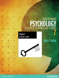 how to write psychology research reports and essays ebook th  how to write psychology research reports and essays ebook 7th findlay bruce buy online at pearson