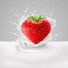 شیر لبنیات توت فرنگی قلبی قلب قنادی شیرینی پزی1