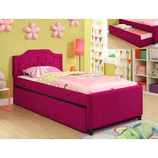 Crown Mark Kids Beds Amelia 5019 Twin Bed with Trundle (Trundle Bed ...