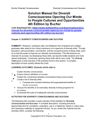 Solution Manual For Diversity Consciousness Opening Our