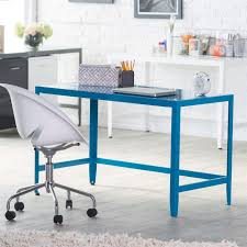 modern metal furniture. Modern Metal Office Desk In Teal Blue Finish Furniture L