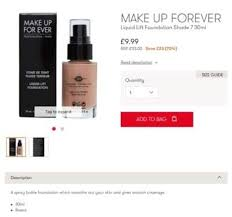 makeup forever liquid lift foundation shade 7 reduced