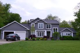 House With Black Trim Grey Houses With Black Trim Back To This Gray House It S A