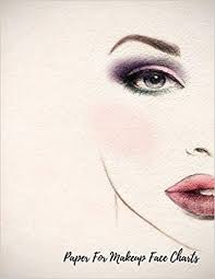 paper for makeup face charts eye make up chart large notebook journals for all 9781549834110 amazon books