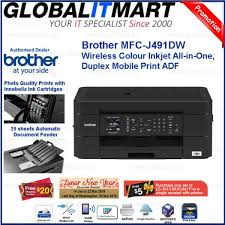 Compare Brother Mfc J491dw Wireless Colour Inkjet All In One