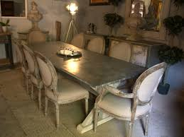 zinc dining room table. Zinc Top Dining Table Room E